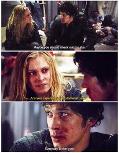 The 100 crack by petermaximoff || Bellamy Blake and Clarke Griffin || The 100 || Eliza Taylor and Bob Morley || Bellarke