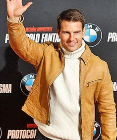 Mission Impossible Ghost Protocol Tom Cruise Madrid Premier Camel Color Jacket in unique amazing price.