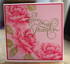 Stampin Up Stippled Blossoms, Million and One Stamps