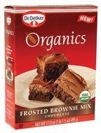 Dr Oetker Organics Brownie Mix Frosted Chocolate Boxes Pack of 8 ** See this great product. (This is an affiliate link) Apple Dessert Recipes, No Bake Desserts, Gourmet Recipes, Baking Recipes, Baking Desserts, Brownie Frosting, Chocolate Frosting, Organic Baking Soda, Gourmet Bakery