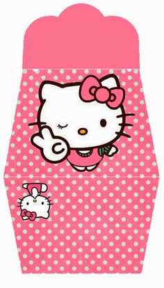 Hello Kitty: Bolso Invitación Rosa para Imprimir Gratis.