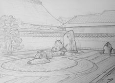 'Ryogen-in Temple. Kyoto Japan, Urban Art, Art Blog, Temple, Art Drawings, Sketches, Gallery, Artwork, Travel