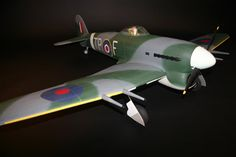 A Typhoon update By David Ashby  You may be familiar with the Hawker Typhoon that RCM readers voted as their favourite for a future free plan design. We asked Tony Nijhuis to see what he could come up with and reported on the progress and first flight here a few weeks ago.....Click on the picture for the full feature. Hawker Typhoon, Plan Design, Fighter Jets, David, Future, Building, Model, Pictures, Free