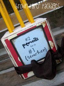 brown paper packages: {4x4 block pencil holder} teacher appreciation gift