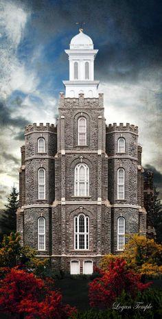 Logan Temple by Brent Borup