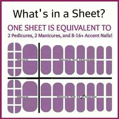 Each sheet costs $15 but you get 2 Mani's and 2 Pedi's from each sheet. This pictures shows you the break down.   Questions please contact me at JennJams2014@gmail.com
