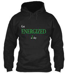 Energized Black Sweatshirt Front