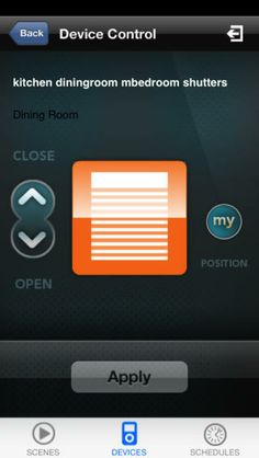 TaHomA by Somfy iPhone app - shutter controller