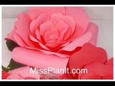 DIY: Quick Tip 3-Dimensional Paper Flower Decoration for Under $5! - YouTube