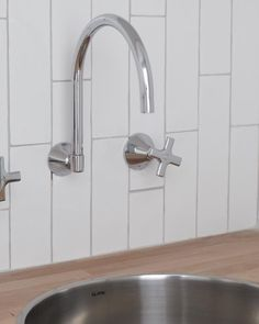 Dorf Maxum Wall Sink Set partnered with Clark Sink - Laundry Love! https://www.dorf.com.au/products/taps/maxum/maxum-wall-sink-set