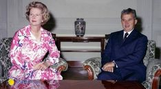 """SOURCES: """"Sovereign Debt, Austerity, and Regime Change: The Case of Nicolae Ceausescu's Romania"""" – by Cornel Ban """"The world economy and the Cold War, … Romanian Revolution, Warsaw Pact, Margaret Thatcher, Bucharest Romania, British Prime Ministers, Forced Labor, Boris Johnson, World Leaders, Soviet Union"""