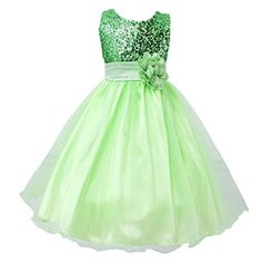 Moge GirlsFlower Party Wedding Gown Bridesmaid Tulle Ruffle Dress *** For more information, visit image link.