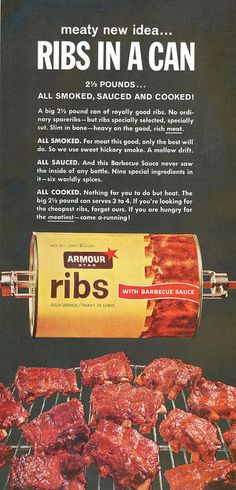 Ribs in a can, 1964
