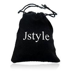 Jstyle Bijoux Bracelet cordon en Cuir – noir tressé – Fermoir en acier inoxydable – Rétro classique – pour homme