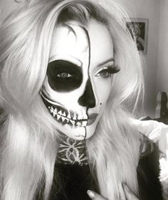 62 Terrifyingly Cool Skeleton Makeup Ideas to Try For Halloween                                                                                                                                                                                 More