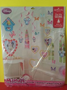 Disney Minnie Mouse Room Transformation Kit Hallmark Party Decorations SEALED | eBay