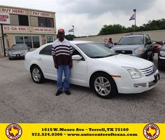 #HappyAnniversary to Marvin Scott on your 2006 #Ford #Fusion from Kara Short at Auto Center of Texas!