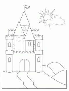 frozen cinderella castle  Free Printable Castle Coloring Pages