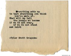 Typewriter Series #1472 by Tyler Knott GregsonChasers of the Light & All The Words Are Yours are Out Now!