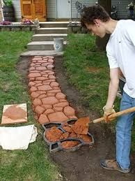 Image result for backyard diy path