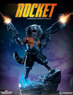 Marvel Rocket Raccoon Premium Format Figure by Sideshow Collectibles