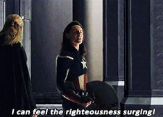 click for more gifs of Loki wearing Captain America's gear!