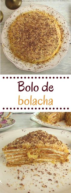 Going to have a party and want to prepare a different and special cake? This delicious creamy wafer cake flavored with coffee, has excellent presentation. Portuguese Desserts, Portuguese Recipes, Candy Cakes, Biscuit Cake, Cake Flavors, Chocolate, Baked Goods, Sweet Recipes, Sweet Tooth