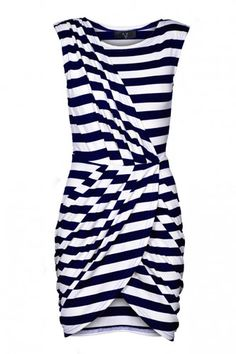 AX Paris Wrap Over Pleat Striped. Need this for this weekend!
