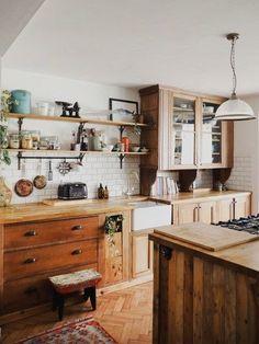 Kitchen Interior, New Kitchen, Kitchen Wood, Kitchen White, Küchen Design, House Design, Interior Design, Types Of Kitchen Cabinets, White Cabinets