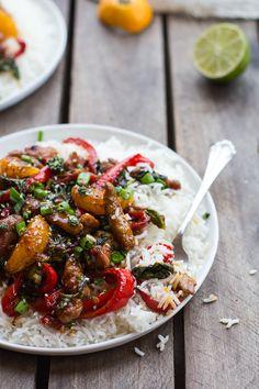 30 Minute Sweet Asian Chili Pork, Ginger and Tangerine Stir Fry | halfbakedharvest.com