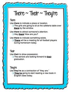 Common Grammar Usage Problem Areas Anchor Charts Sad but I know a lot of adults who need this chart.