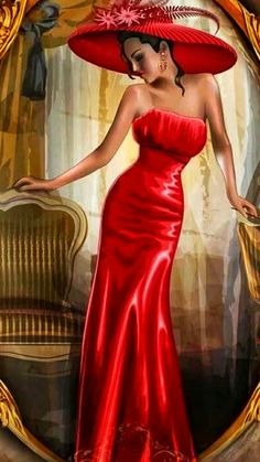 Formal Dresses, Anime, Red, Fashion, Formal Gowns, Moda, Fashion Styles, Formal Dress, Gowns