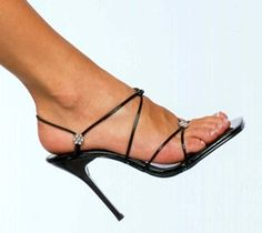 Black strappy heels..love love