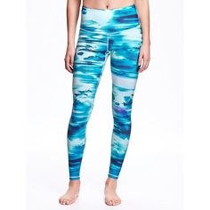 6126b85bae8d2 Old Navy High Rise Patterned Compression Leggings For Women (205 SEK) ❤  liked on