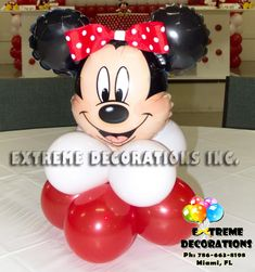 minnie mouse party supplies red and black | minnie mouse balloon centerpiece with red bow welcome minnie mouse