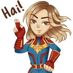LINE Official Stickers - Marvel Studios' Captain Marvel M Wallpaper, Funny Riddles, Marvel Cartoons, Funny P, Walt Disney Company, Muslim Girls, Line Sticker, Studio S, Captain Marvel
