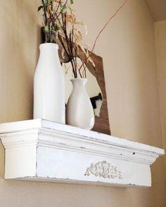 #DIY Wall Shelf  http://www.shanty-2-chic.com/2013/02/diy-shelving-floating-ledge.html