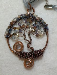 Hand Made Wire Wrapped Copper Tree of Life by ArtsyCreations, $38.00