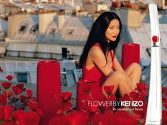 Flower by Kenzo Perfume - The Perfume Girl. Fragrances and colognes from fashion houses and perfume designers. Scent resources, perfume database, and campaign ad photos. Perfume Ad, Cosmetics & Perfume, Fragrance Parfum, Flower By Kenzo, Parfum Flower, Beauty Ad, Sensual, Vintage Ads, Belle