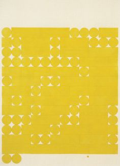 amalgammaray:  Tauba Auerbach - Morse Alphabet, No Spaces, Yellow, 2005