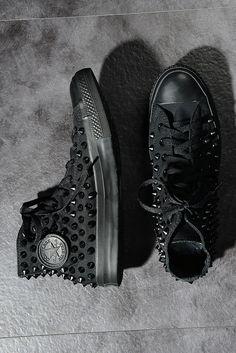 Original Converse Spike Studded Sneakers Black 6KE