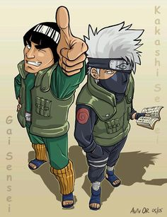 Guy and Kakashi - love the rivalry