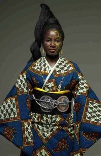 """Wafrica"""" is a kimono fashion collection designed by Serge Mouangue, an interior designer and industrial designer/artist, born in Cameroon"""