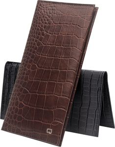 Ever though of adding a phone in your wallet? Try this leather phone wallet. Choose from 2 classy designs, crocodile grain or bamboo pattern.