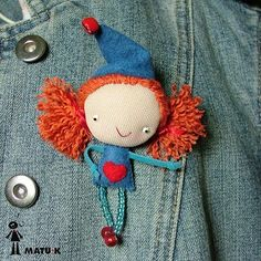 matu-k Tiny Dolls, Cute Dolls, Felt Dolls, Doll Toys, Cute Cartoon Girl, Doll Painting, Bear Doll, Tiny Treasures, Sewing Dolls