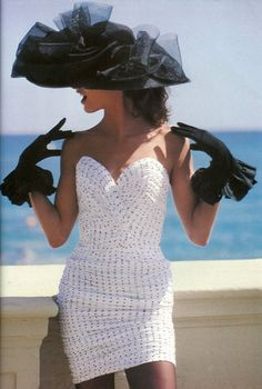 Love the hat...love the dress