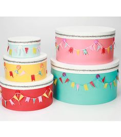 Create cute boxes for all your trinkets out of #washi tape!