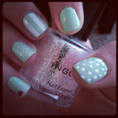 mix 'n match nails by leedlebobeedle