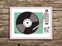 Trendy vintage music wedding theme save the date ideas Save The Date Postcards, Save The Date Cards, Vintage Music, Retro Vintage, Vintage Cafe Design, Music Wedding Invitations, 50s Theme Parties, Diy Crafts Vintage, Rustic Save The Dates