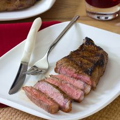 Cajun flavors come alive in these New York strip steaks